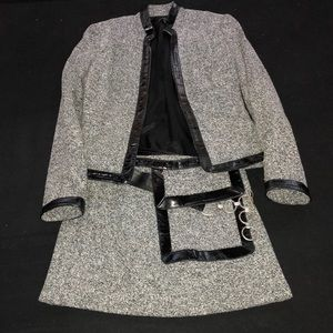 2 piece suit  ( mini skirt and jacket)
